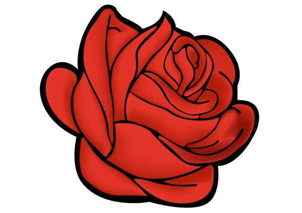 Rose vector clipart vector library stock Red Rose Vector Art | Free Valentine\'s Day Vector in 2019 ... vector library stock