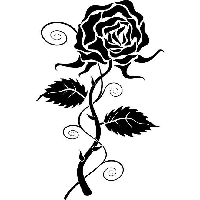Rose vector clipart vector stock Free Rose Vector, Download Free Clip Art, Free Clip Art on ... vector stock