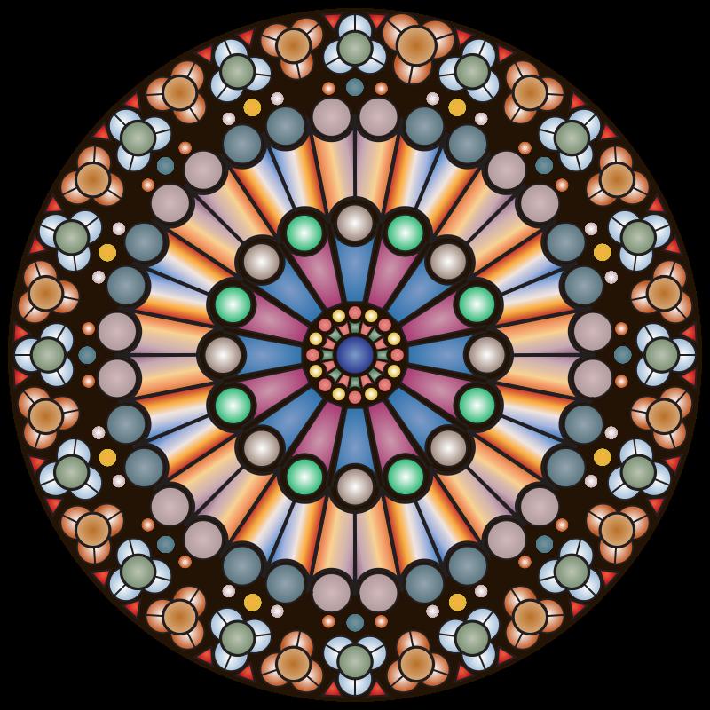 Rose window clipart clip art transparent stock Free Clipart: Rose Window - Notre Dame | bnsonger47 clip art transparent stock