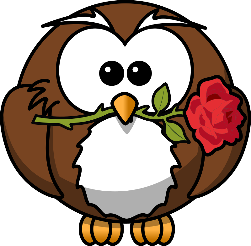 Rose with owl clipart png freeuse Free Clipart: Owl with rose | bocian png freeuse
