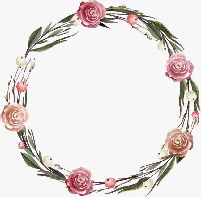 Rose wreath clipart picture transparent stock Rose wreath clipart 5 » Clipart Portal picture transparent stock