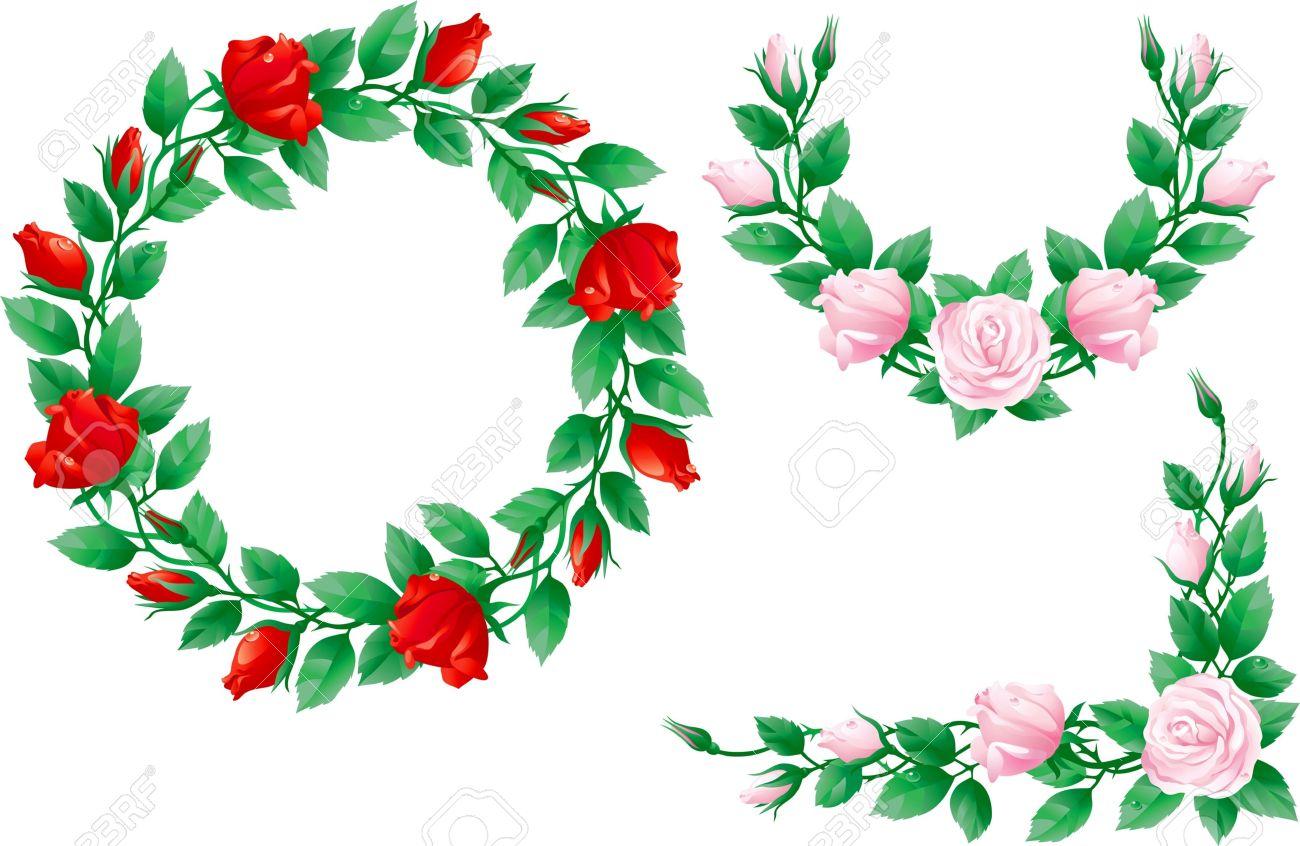 Rose wreath clipart graphic transparent download Rose Wreath Clipart   Free download best Rose Wreath Clipart ... graphic transparent download