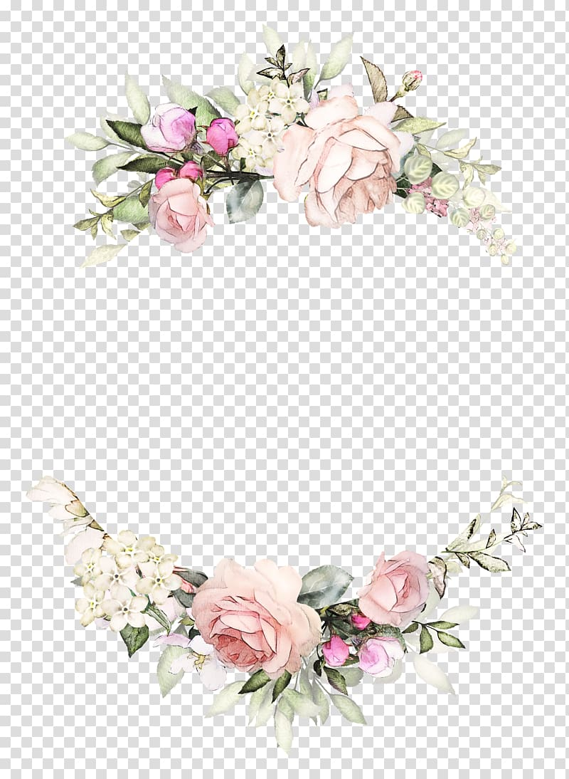 Rose wreath clipart free download Multicolored floral frame, Wedding invitation Rose Wreath ... free download