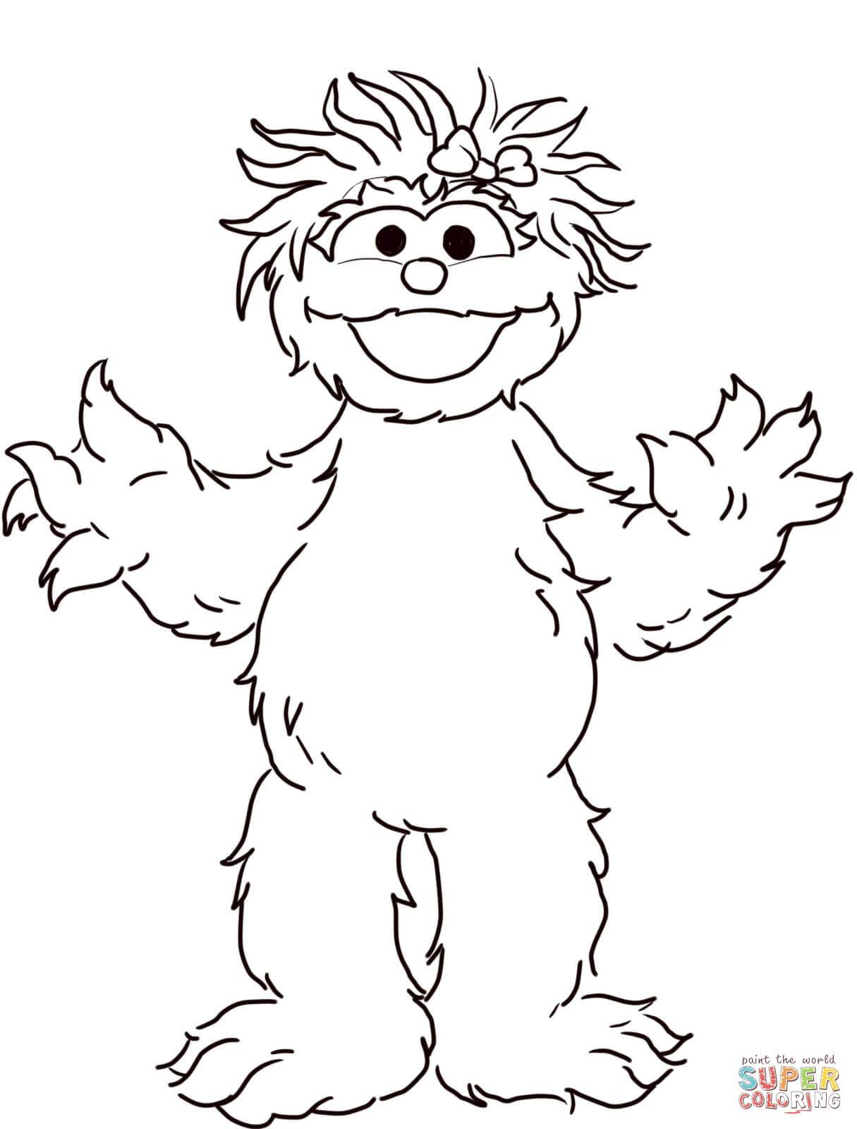 Rosita clipart vector black and white library Sesame street rosita clipart 4 » Clipart Portal vector black and white library