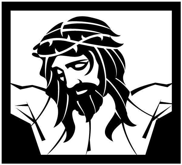 Rostro de cristo clipart svg library stock stencil jesus - Buscar con Google | arte | Rostro de jesús ... svg library stock