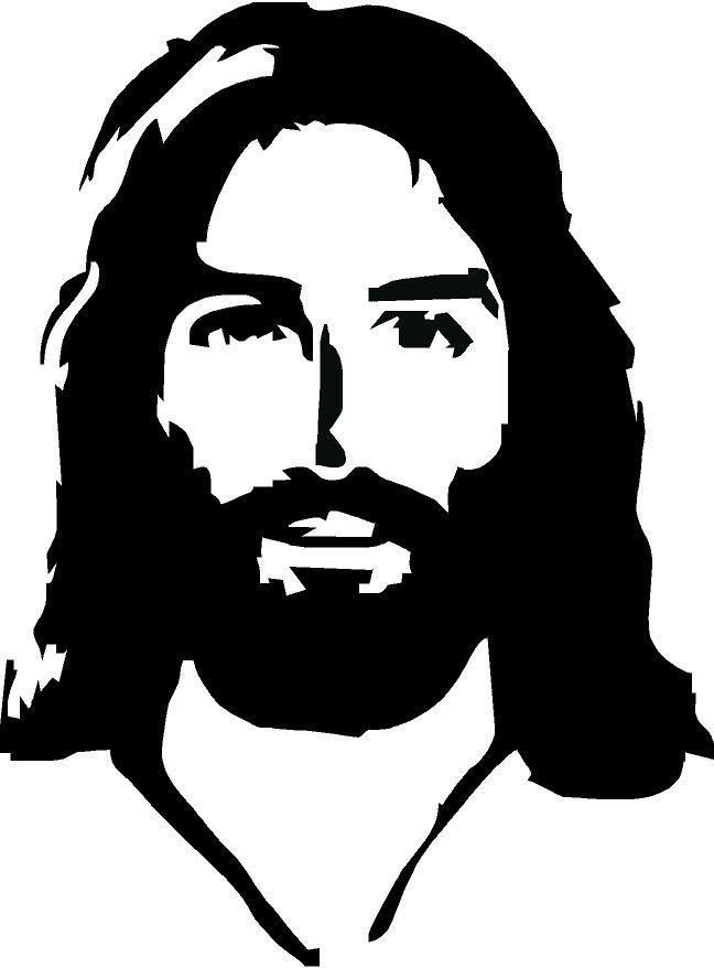 Rostro de cristo clipart vector library stock Jesus Face Vinyl Decal | Inspirational | Rostro de jesús ... vector library stock