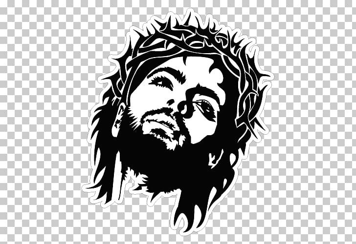 Rostro de cristo clipart banner black and white stock Gráficos cristianismo cara santa de jesús, cruz cristiana ... banner black and white stock