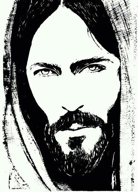 Rostro de cristo clipart jpg freeuse Rostro de Jesús | rostro de Jesús | Arte blanco, Rostro de ... jpg freeuse