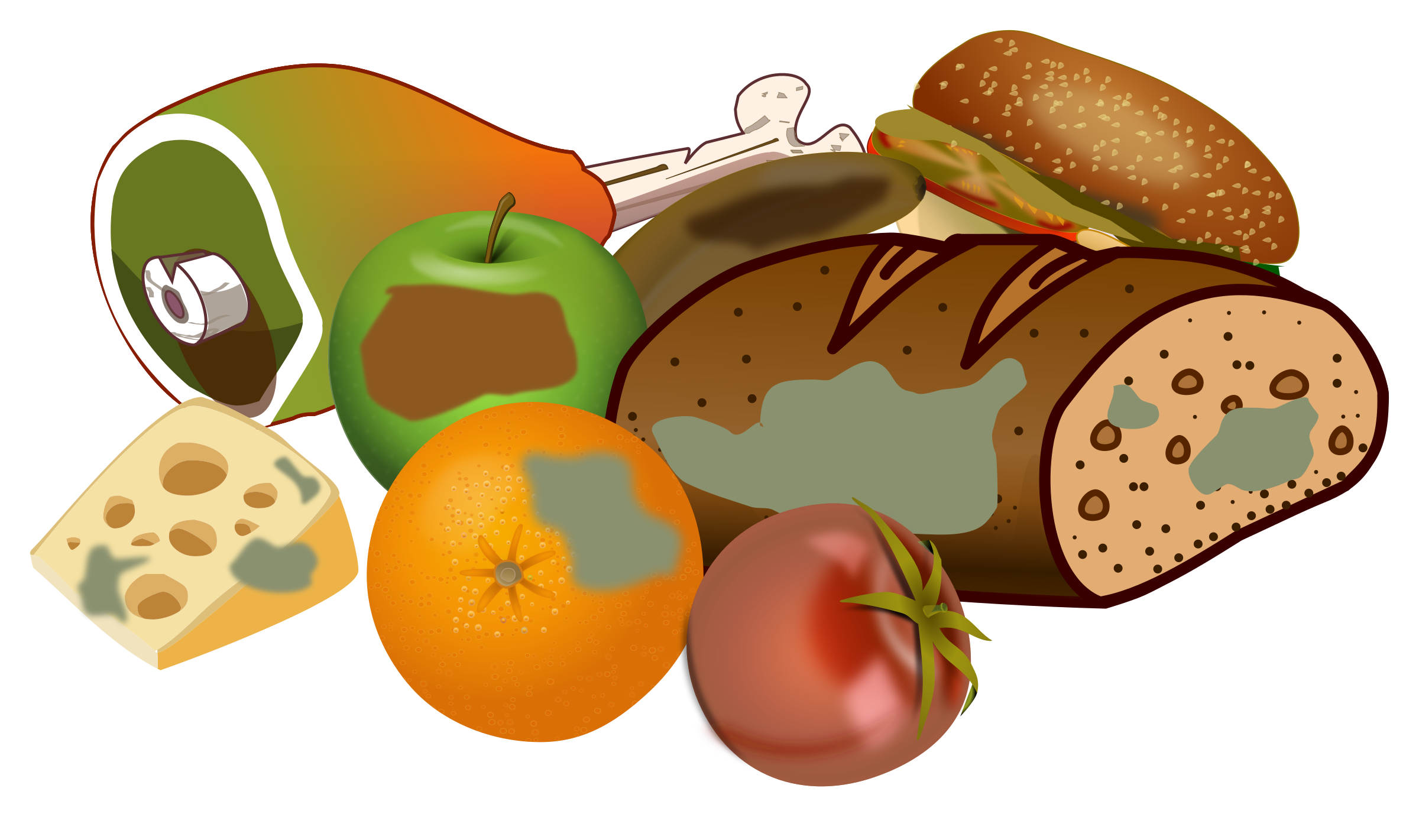 Rot apple clipart image library download Clipart - Wasting food image library download