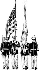 Rotc color guard clipart clip free stock VFW Post 2749 – Post 2749 Color Guard Helps Honors Vets clip free stock