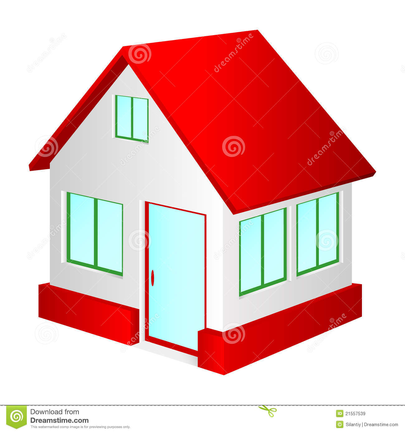 Rotes haus clipart graphic transparent stock Haus Mit Rotem Dach. Lizenzfreie Stockbilder - Bild: 21557539 graphic transparent stock