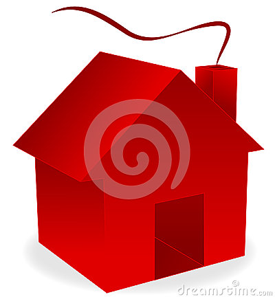 Rotes haus clipart clip freeuse stock Rotes Haus 3d Lizenzfreie Stockfotos - Bild: 18325788 clip freeuse stock