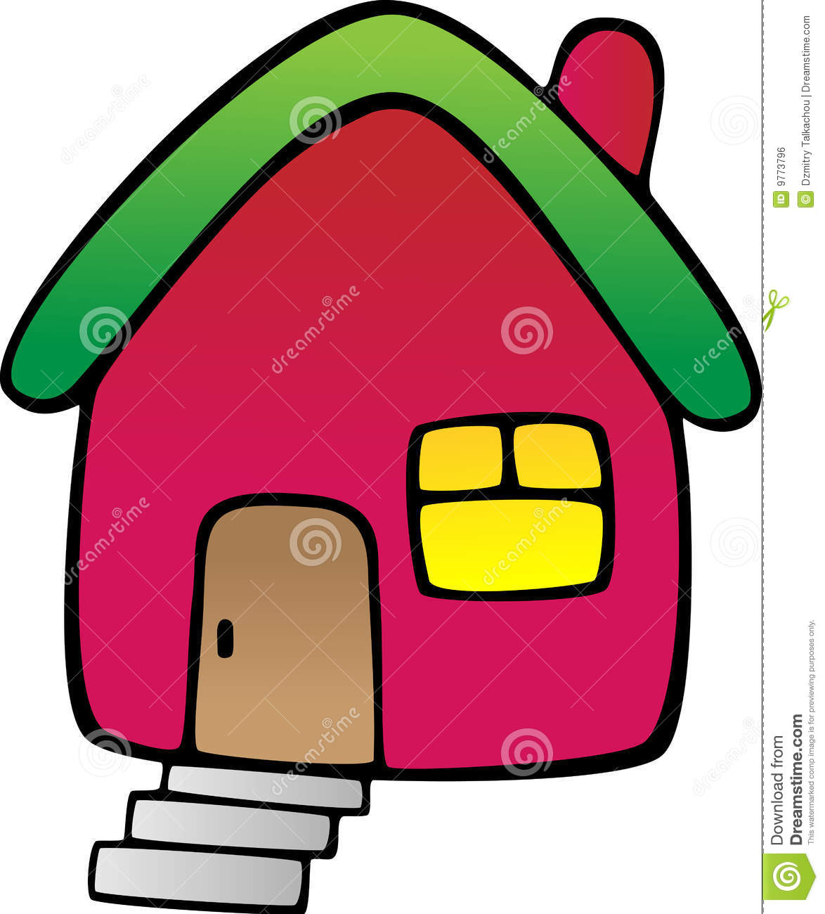 Rotes haus clipart vector free download Rotes Haus Lizenzfreies Stockbild - Bild: 9773796 vector free download