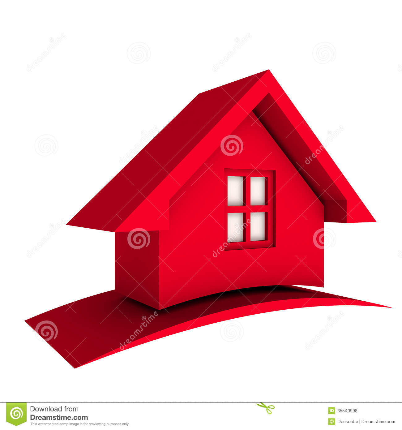 Rotes haus clipart freeuse Rotes haus clipart - ClipartFest freeuse