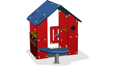 Rotes haus clipart clipart download Spielhaus