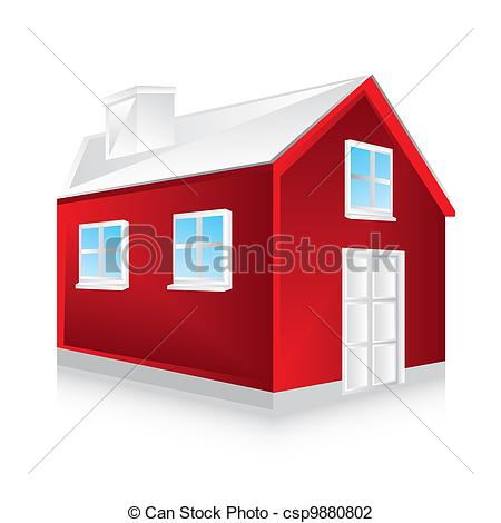 Rotes haus clipart clip art library library Vektor Illustration von haus, rotes - rotes, haus, mit, Schatten ... clip art library library