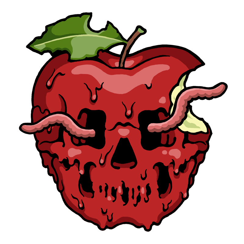 Rotten apple clipart png free download K-NOR - Original Digitals Pack 1 – Street Cuts Stickers png free download