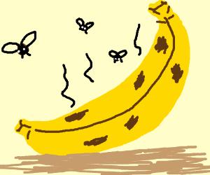 Rotten banana clipart black and white Banana rots - Drawception black and white