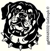 Rottwieler clipart svg black and white stock Rottweiler Clip Art - Royalty Free - GoGraph svg black and white stock