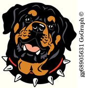 Rotweilers clipart clip art freeuse library Rottweiler Clip Art - Royalty Free - GoGraph clip art freeuse library