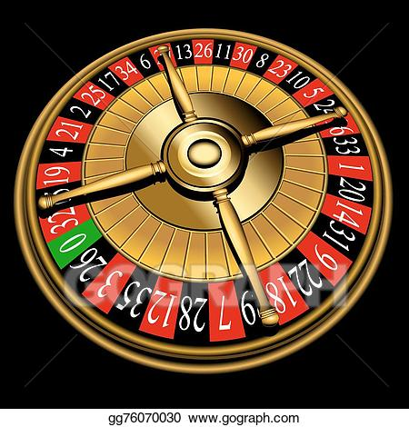 Roulette clipart clip royalty free library Vector Clipart - Roulette wheel. Vector Illustration ... clip royalty free library