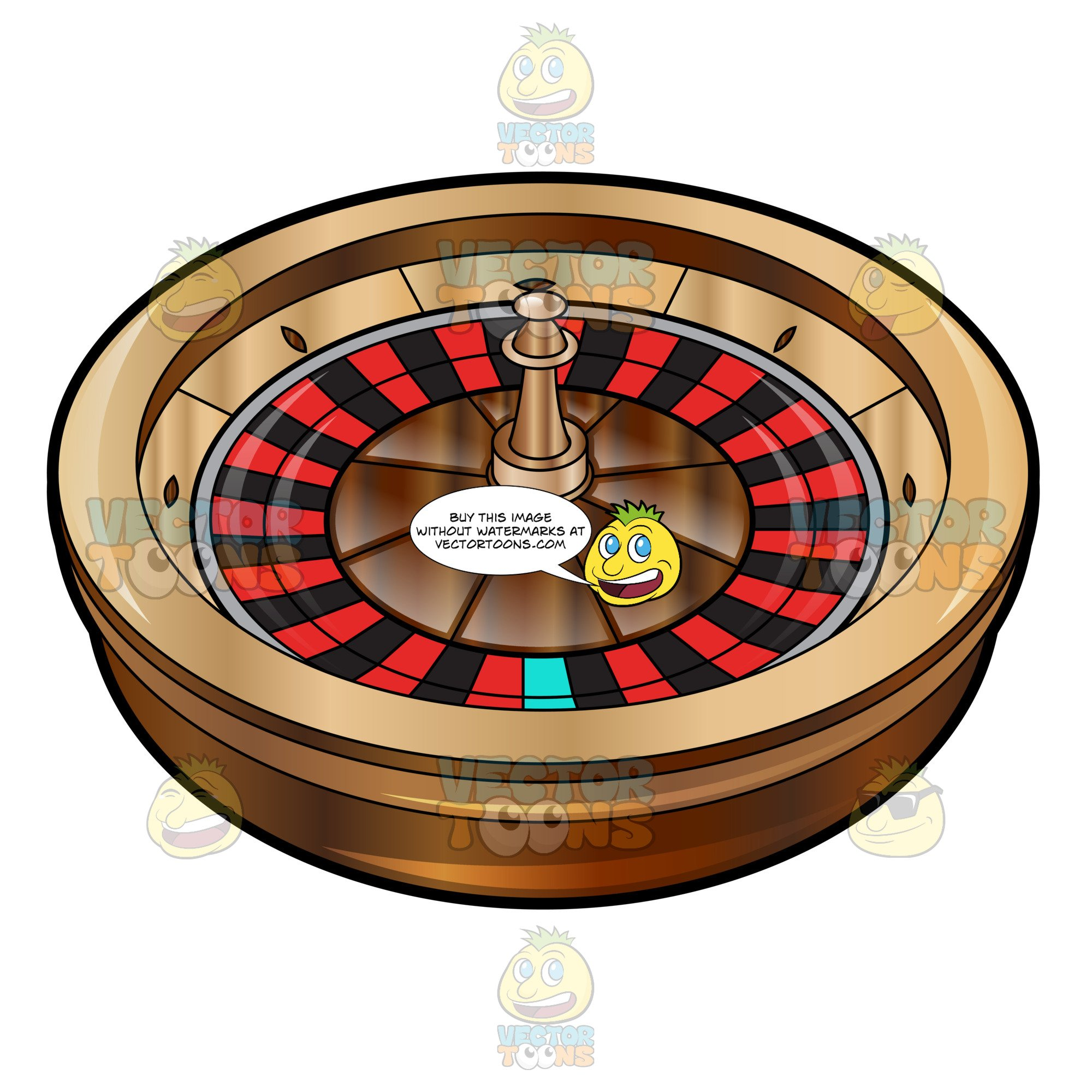 Roulette table clipart vector black and white stock Basic Roulette Turn Wheel vector black and white stock