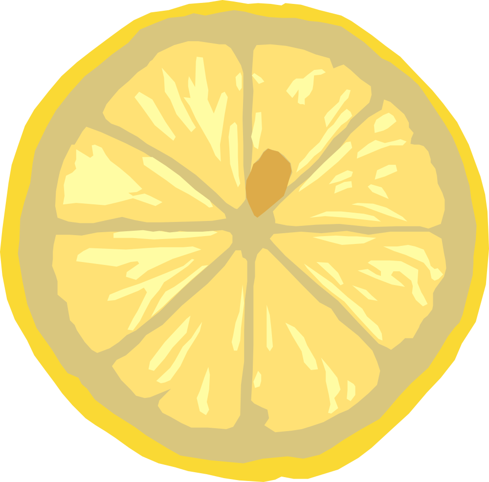 Round apple slice clipart jpg library download OnlineLabels Clip Art - Lemon Slice jpg library download