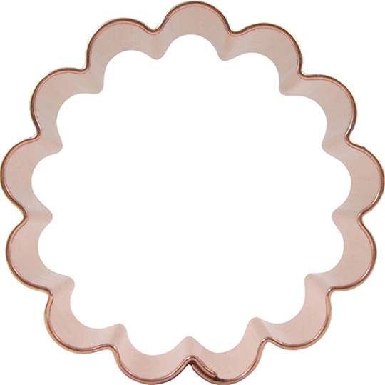 Round biscuit cutters clipart graphic stock Scalloped Circle Cookie Cutter 3-inch graphic stock