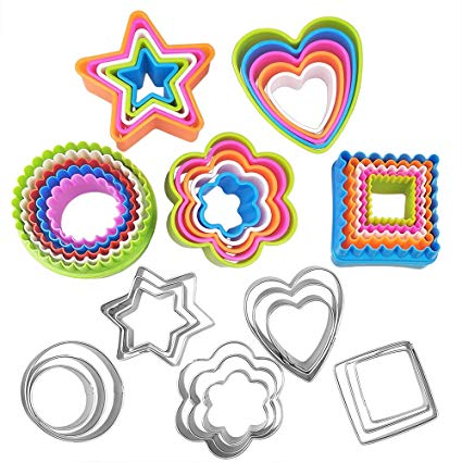 Round biscuit cutters clipart graphic free Amazon.com: Basic Cookie Cutters Set Cake Cutter Cookie ... graphic free