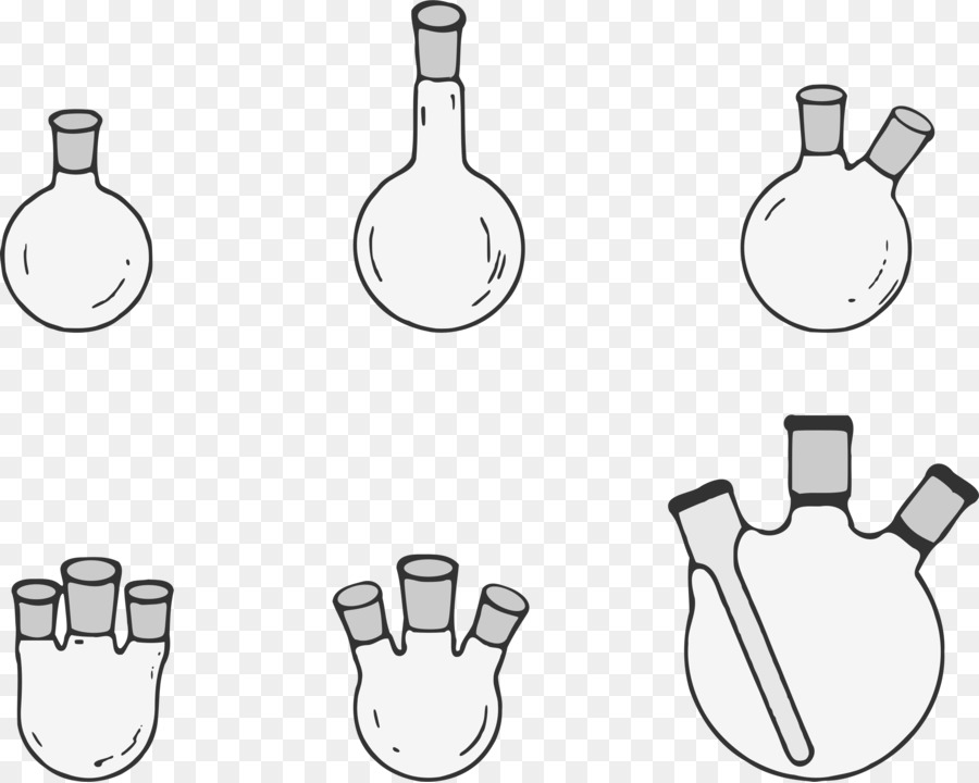 Round bottom flask clipart clipart black and white download Chemistry Cartoon clipart - Chemistry, Glass, White ... clipart black and white download