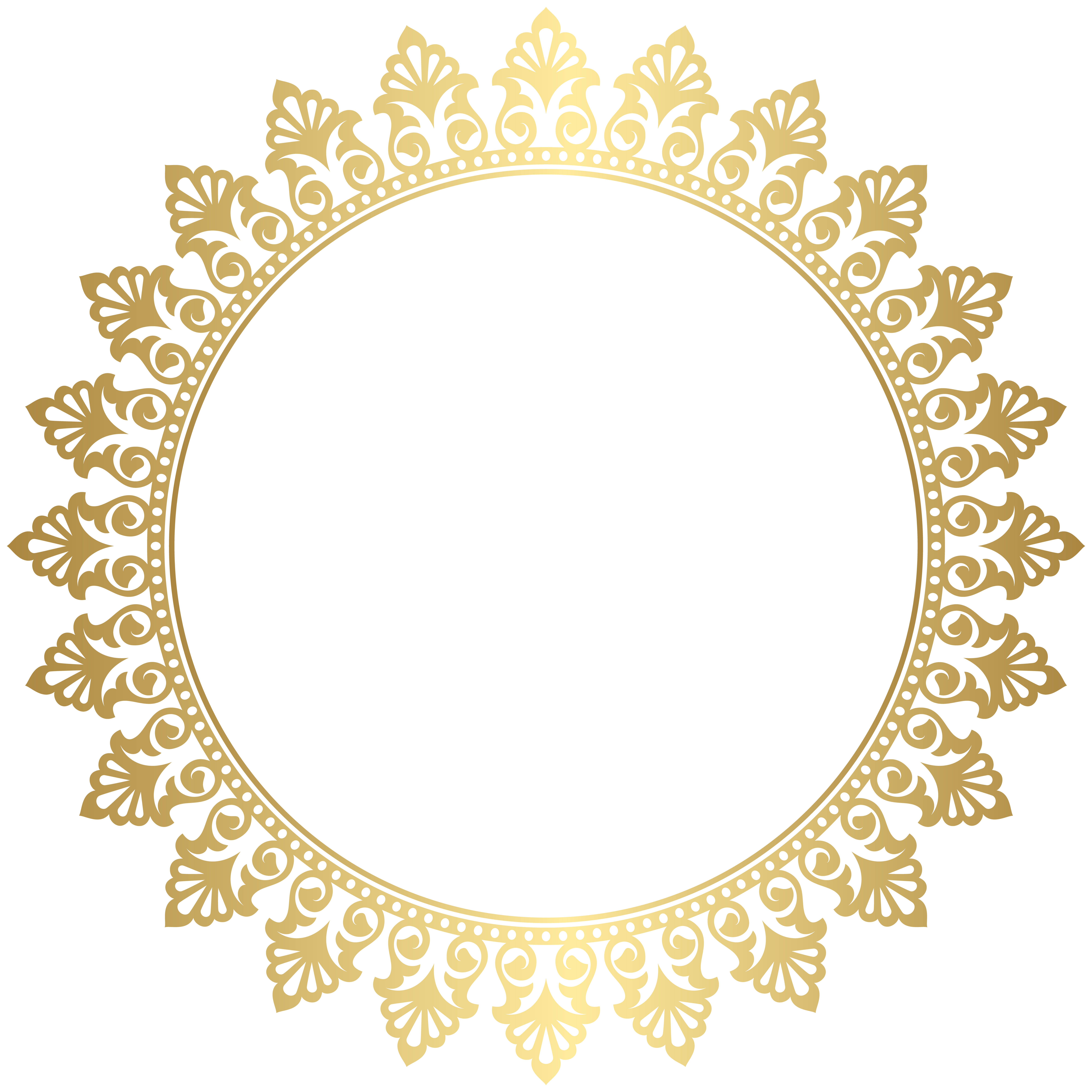 Round circle gold border with white center clipart svg library Pin by galit cohen on כרטיסים | Frame clipart, Round border ... svg library