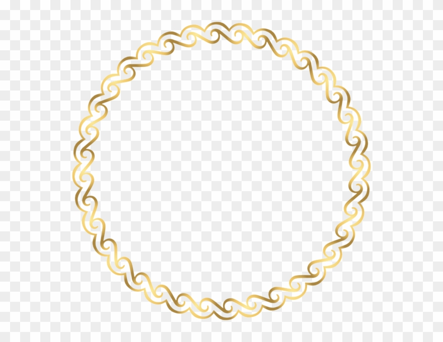 Round circle gold border with white center clipart transparent library Round Border Deco Frame Png Clip Art - Art Deco Frame Round ... transparent library