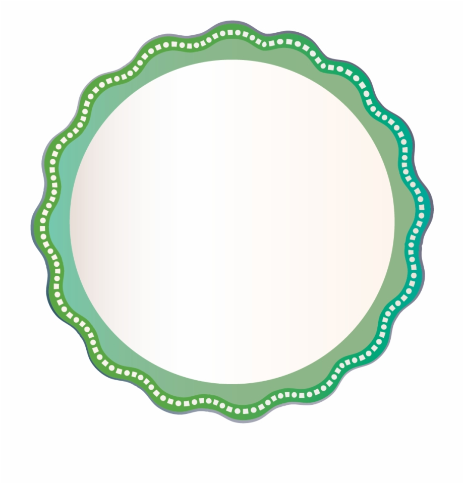 Round circle gold border with white center clipart png free Green Wave Outline White Square Circle Border Badge - Circle ... png free