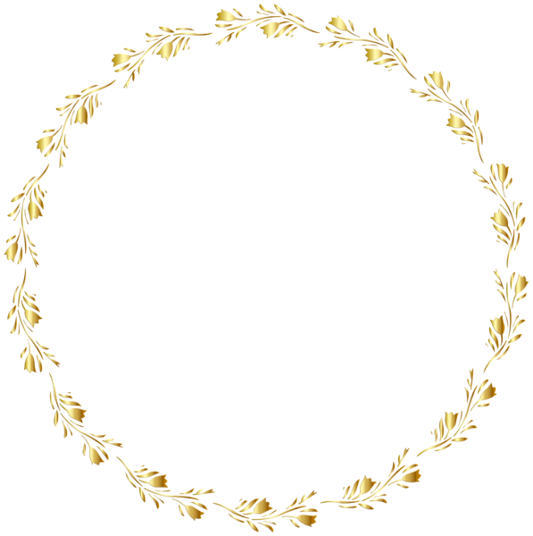 Round circle gold border with white center clipart banner royalty free library Gold Round Floral Border Transparent Clip Art Image | nisa ... banner royalty free library