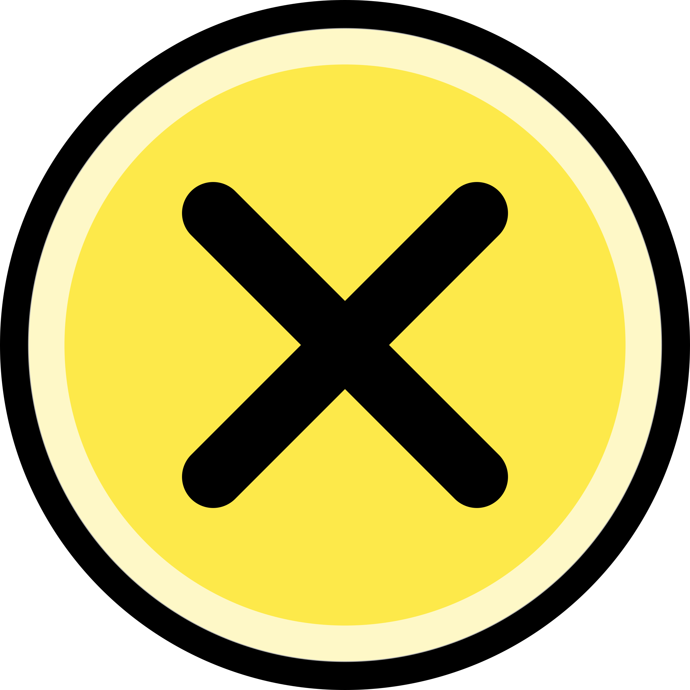 Round cross clipart clip free library Clipart - Button - cancel/no, round, yellow clip free library