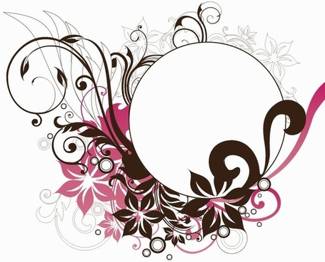 Round flower design clipart clipart transparent Round floral design free vector download (12,633 Free vector ... clipart transparent