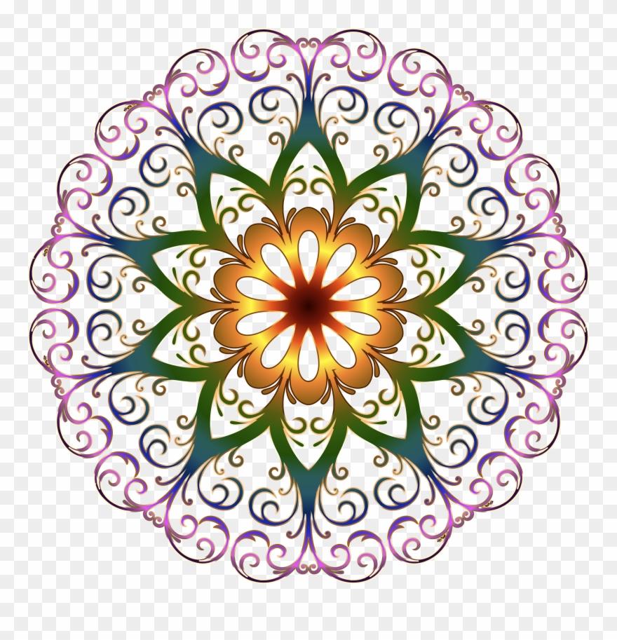 Round flower design clipart clip freeuse download Clipart - Round Flower Design Png Transparent Png (#535841 ... clip freeuse download