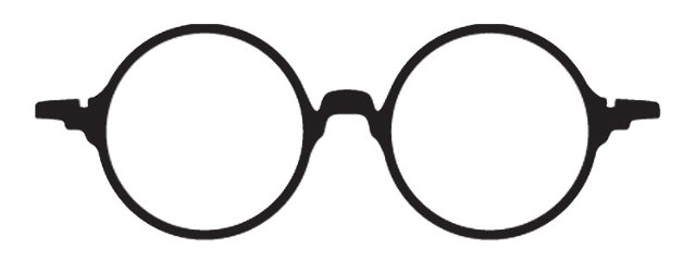 Round goggles clipart clip freeuse Round John Lennon Harry Potter Glasses With Round Lenses And ... clip freeuse