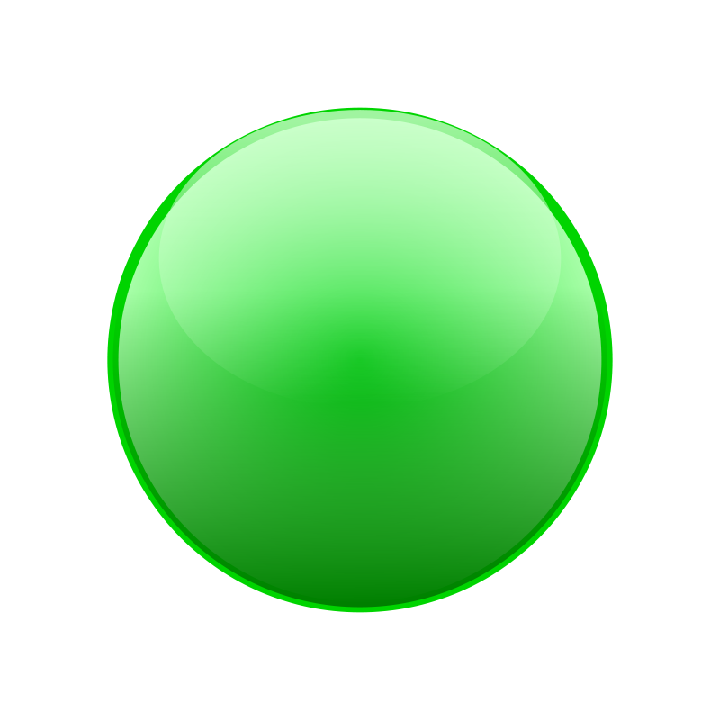 Round green clipart black and white library Free Clipart: Green ball | alexgill black and white library