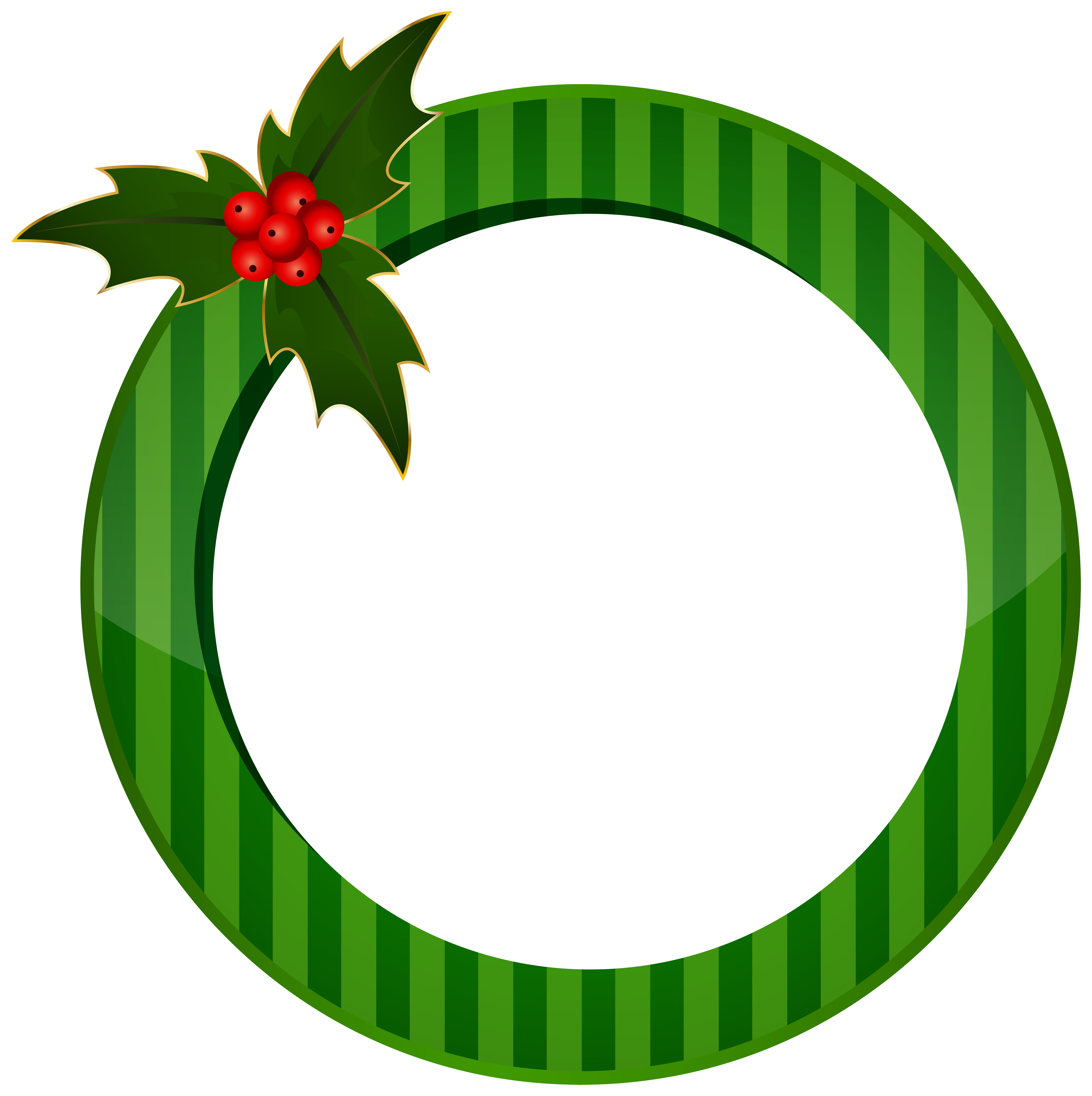 Round green clipart clipart black and white download Christmas Round Green Frame Transparent Image | Gallery ... clipart black and white download