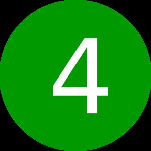 Round green clipart clipart transparent download Number 4, Round, Green Clip Art - Clip Art Library clipart transparent download