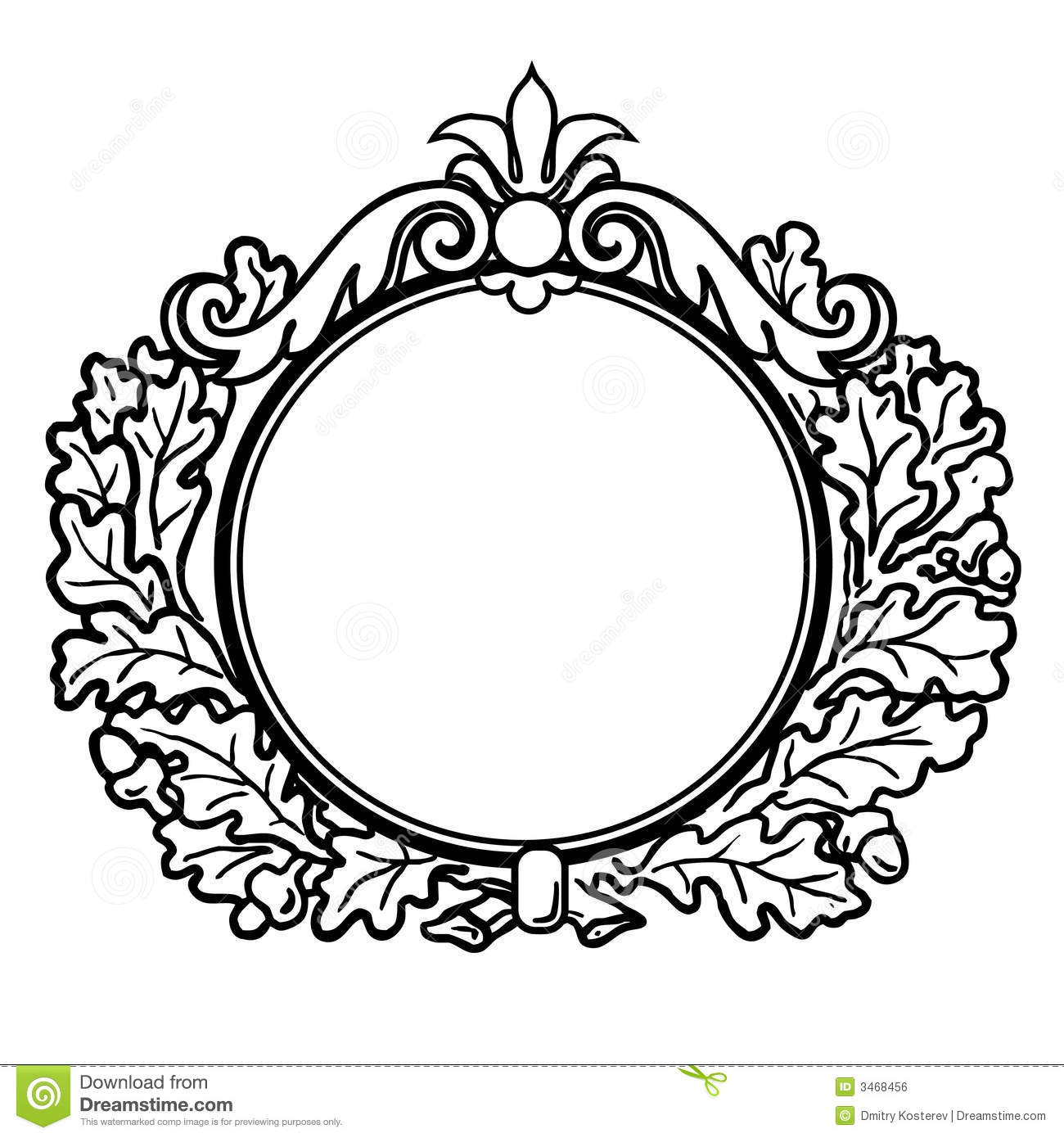Round picture frame clipart vector royalty free Round Victorian Frame Clipart | Clipart Panda - Free Clipart ... vector royalty free