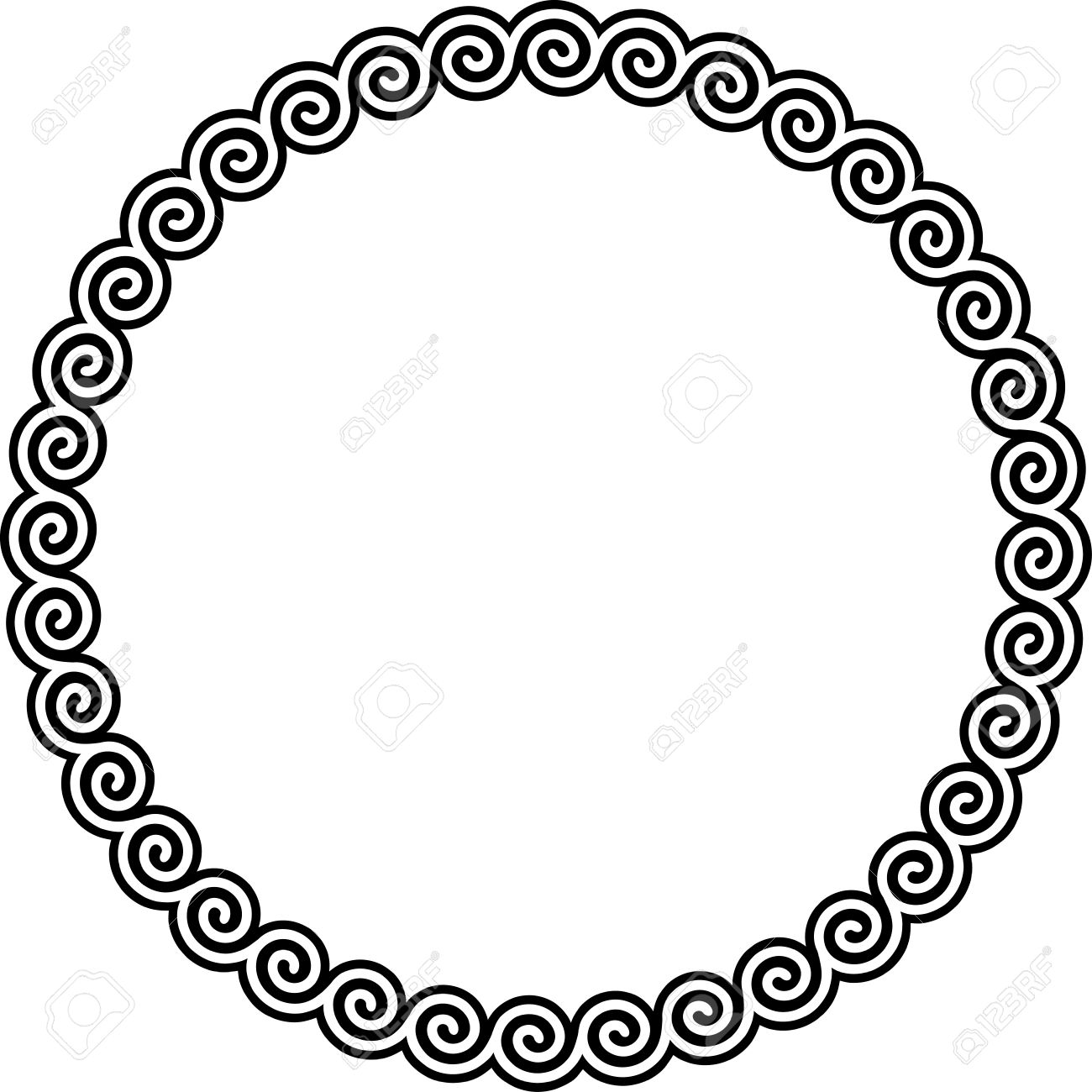 Round picture frame clipart image free Round frame clipart » Clipart Station image free