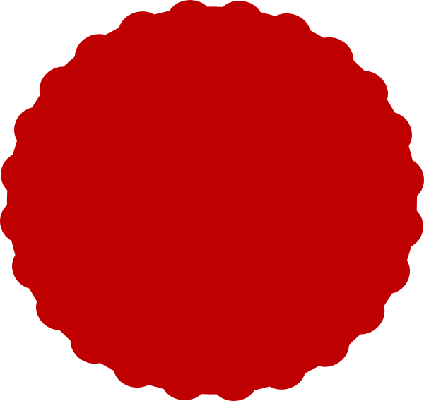 Round red picture frame clipart for text jpg free library Red Scallop Clip Art At Clker - Scallop Border Red Round ... jpg free library