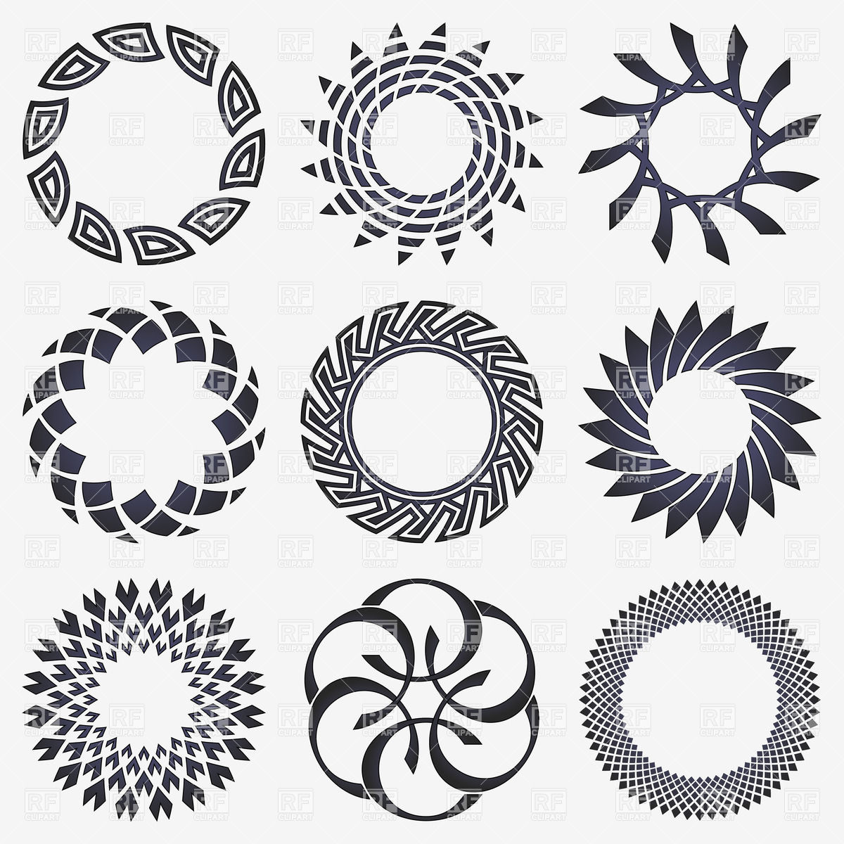 Round shape design clipart vector black and white Round shape design clipart 7 » Clipart Station vector black and white