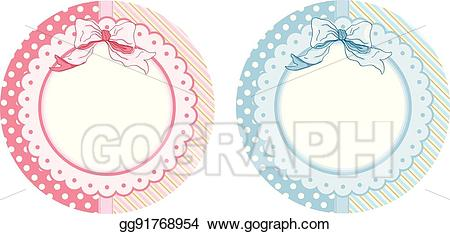 Round sticker clipart png freeuse EPS Vector - Personalized baby shower round sticker labels ... png freeuse
