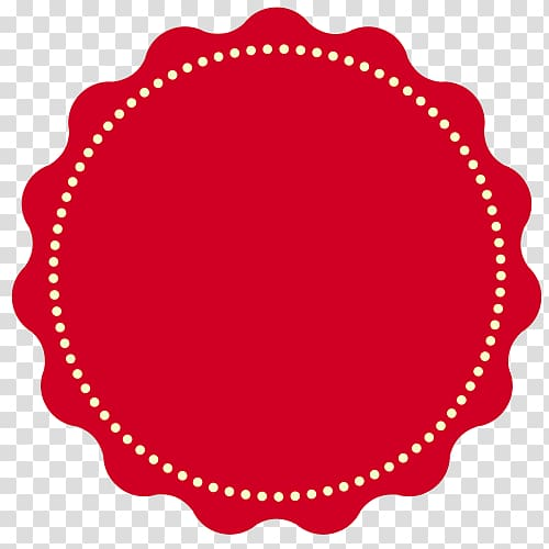 Round sticker clipart png Round red and white logo illustration, Sticker Label ... png