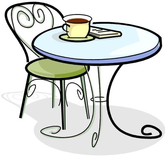 Round tea table clipart vector transparent library Table ClipArt | Random Things I like | Cafe tables, Cafe ... vector transparent library