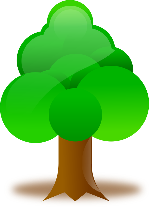 Clipart - Tree banner royalty free stock