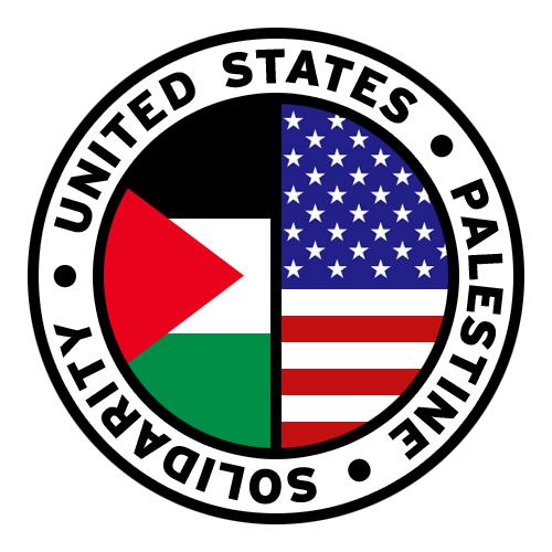 Round us flag clipart jpg Round United States Palestine Solidarity Flag Clip Art 2 ... jpg